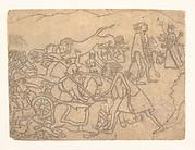 Kali Presenting the Heads of Chanda and Munda to Durga: Scene from the Devi Mahatmya