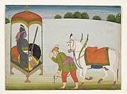 Kalki Avatar, the Future Incarnation of  Vishnu:  Page from a Dispersed Manuscript