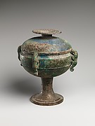 Ritual Grain Vessel with Cover (Dou)