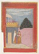 A Lady and Her Duenna: Page from a Dispersed Rasikapriya (Lover's Breviary)