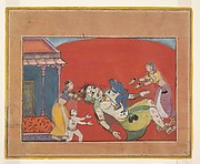 The Death of the Demoness Putana: Page from a Dispersed Bhagavata Purana
