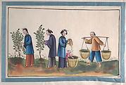 Album Containing Twelve Paintings of People Making Silk
