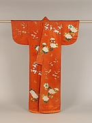 Overrobe with Design of Peonies, Plum Blossoms, and Butterflies