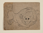 A Lion Fighting a Crocodile
