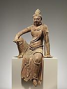 Bodhisattva , probably Manjushri (Wenshu)