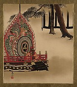 Lacquer Paintings of Various Subjects: Drum for Gagaku Dance