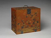 Cabinet with Design of Chrysanthemum by a Stream