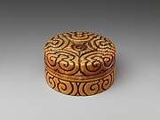 Box with pommel-scroll design