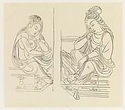 現代   謝稚柳   敦煌思維菩薩像臨本   鏡片<br/>Pensive Bodhisattvas