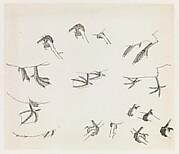 現代   謝稚柳   鳥爪畫稿   鏡片<br/>Birds' Feet