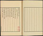 "現代   謝稚柳   西畇寓目編   手稿線裝<br/>Table of Contents of ""Xiyun Yumubian"""