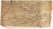 現代   謝稚柳   枝禽圖   鏡片<br/>Bird on a Branch