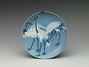 Dish with Cranes