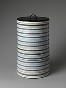 Water Jar with Striped Design
