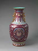 Vase with Floral Medallions