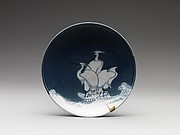 Dish with Heron Design