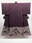 Kimono with Design of Pines, Plum, and Bamboo (Shōchikubai)
