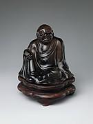 清 茶晶坐佛<br/>Seated Buddha
