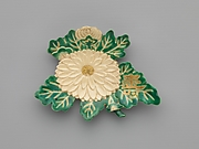 乾山様式 菊形皿