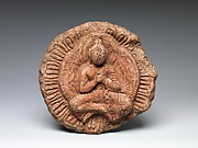 Rondel with Seated Buddha
