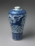 Vase in Meiping Shape with Phoenix