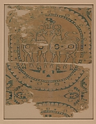 Textile with Horned Animals in a Pearl Roundel