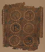 Textile with Boar's Head Roundels