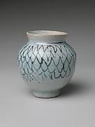 Jar with Stylized Net Design