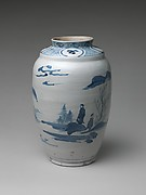 Jar with Landscape