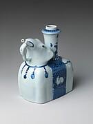 Elephant-Shaped Kendi Drinking Vessel