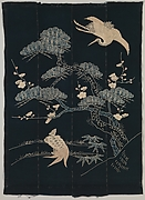 Futon Cover with Turtle, Crane, Pine, Plum, and Bamboo