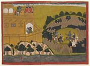 Rama Releases the Demon Spies Shuka and Sarana: Folio from a Ramayana 'Siege of Lanka' Series