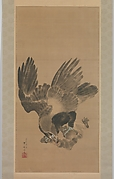 猿を襲う鷲図<br/>Eagle Attacking a Monkey