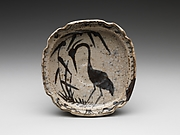 Bowl with Heron in Reeds