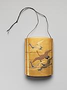 Case (Inrō) with Design of Seven Cranes in Flight