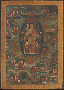 Buddha Sakyamuni and Scenes of His Previous Lives (Jataka Tales)