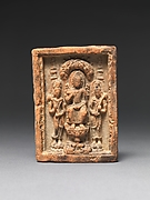 Seated Buddha Flanked by Two Bodhisattvas