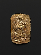 Votive Plaque with Seated Bodhisattva