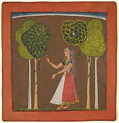 Ragini, possibly Asavari: Folio from a Ragamala Series