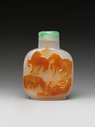 Snuff Bottle with Eight Horses