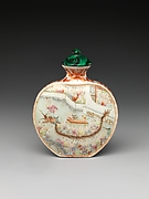 Snuff Bottle with Scene of Dragon-Boat Festival
