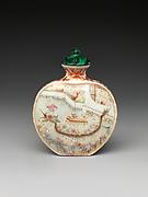 Snuff Bottle with Scene of Dragon-Boat Festival