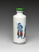 Snuff bottle with scene of Peking Opera