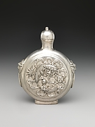 Snuff Bottle with Lions