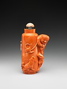 Snuff bottle with boy flying a bird