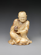 Buddhist disciple, or luohan, holding a peach