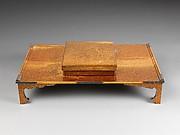 Writing Box (Suzuribako) and Writing Table (Bundai) with Pines at Takasago and Sumiyoshi