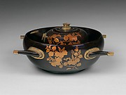 Four-Handled Basin and Pitcher with Paulownia and Foliage Scroll