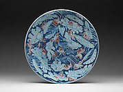 Plate with Egrets in a Lotus Pond
