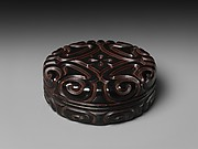 Box with Pommel Scroll Design